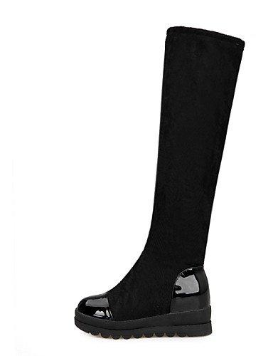 Fiesta Y Negro La Vestido Tacón Vellón Eu39 Bajo us8 Moda Noche Botas De Black Uk6 Xzz Mujer Cn39 Zapatos A Encaje nZBW0znwvP