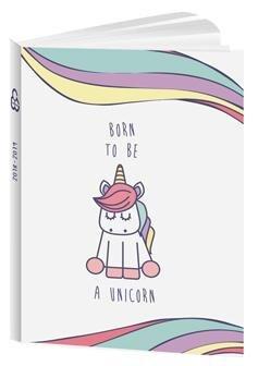 Agenda (unicornio Born To Be A Unicorn - 12 x 17 cm - agosto ...