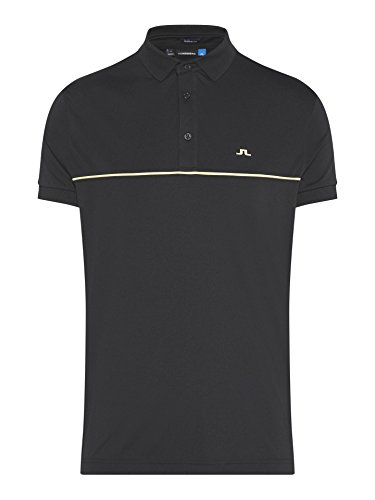 Used, J.Lindeberg Men's Brighton Jersey Polo Shirt, Black, for sale  Delivered anywhere in USA