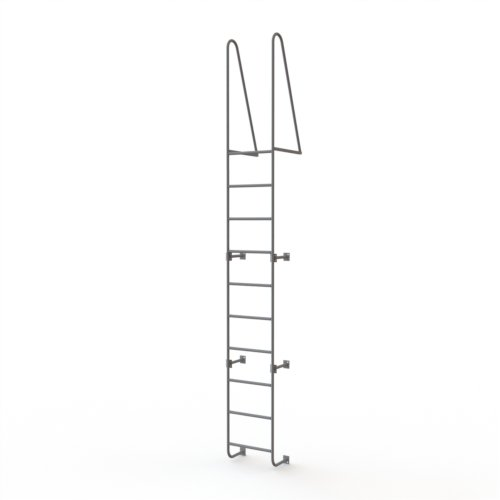 Tri-Arc WLS10WT 10-Step Steel Industrial & Warehouse Walk-Thru Dock Ladder with Guardrails