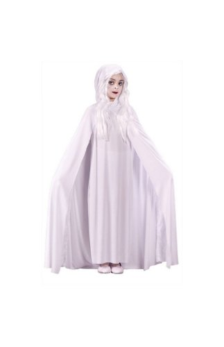 Morris Costumes Gossamer Ghost Child Small Hooded Cape Polyester Popular