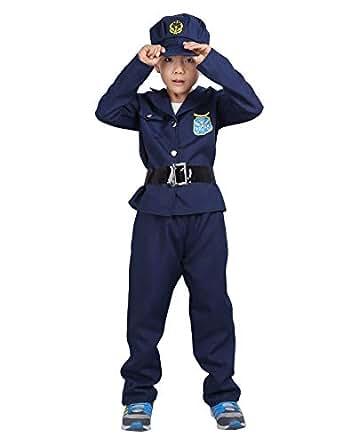 Amazon.com: ACSUSS - Disfraz de policía de lujo para niños y ...