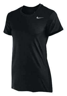 Nike Women's Dri-Fit Legend Short Sleeve T-Shirt (Large, Black/Cool Grey)