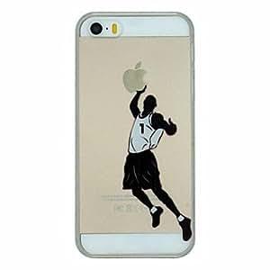 GDW serie de baloncesto de la clavada pattern pc caso de la cubierta trasera transparente duro para el iphone 5 / 5s