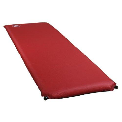 10T Bob 800 - Selbstfüllende Iso-Matte mit Kunststoffventil rot antislip 198x63x8 cm