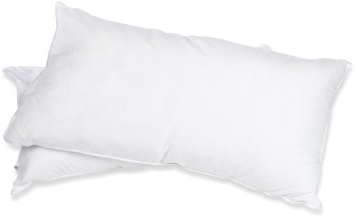 Superior White Down Alternative Pillow 2-Pack, Premium Hypoallergenic Microfiber Fill, Medium Density for Back, Stomach, and Side Sleepers - King Size, Solid ()