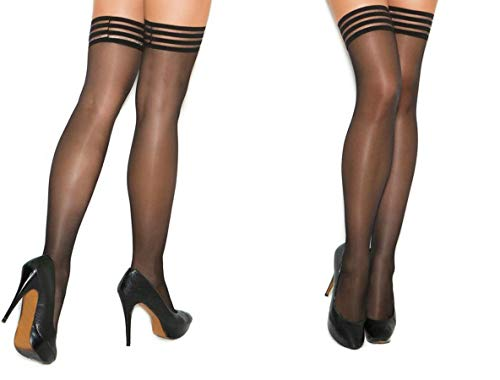Park Avenue Sheer Stay Up Stockings with Silicone Band for sale  Delivered anywhere in Canada