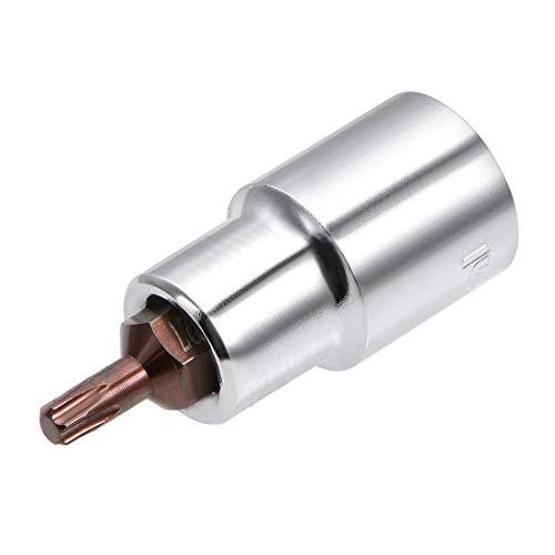 uxcell 1/2-Inch Drive T27 Torx Bit Socket S2 Steel 55mm -