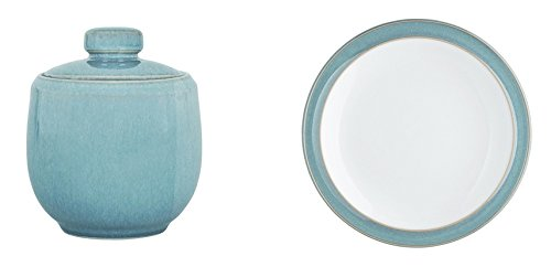 Denby Azure Covered Sugar and Tea Plate, Set of 2 Azure Tea Plate