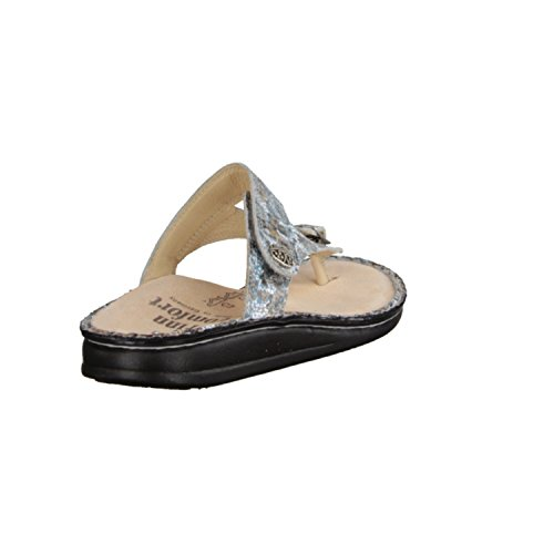 Finn Comfort Alexandria-Soft- Damenschuhe Pantolette/Zehentrenner, Blau, Leder (zamo)