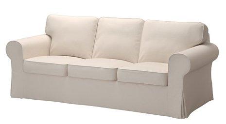 Ikea Ektorp Sofa Couch Cover Lofallet Beige Three Cushion