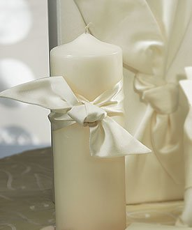 Beverly Clark Unity Candles - Beverly Clark Tie The Knot Collection Weddingstar Unity Candle, Ivory