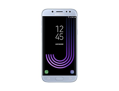 Samsung Galaxy J5 2017, Smartphone Libre (5.2'', 4GB RAM, 16GB, 13MP/Versión Italiana: No Incluye Samsung Pay ni Acceso a promociones Samsung Members), Color Plata