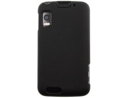 Rubberized Faceplate Phone - Hard Snap-on Shield BLACK RUBBERIZED Faceplate Cover Sleeve Case for MOTOROLA MB860 ATRIX 4G [WCF76]