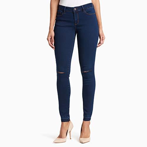 - Black Daisy Women's Billie Skinny Jean, Rinse Knee Slits, 7