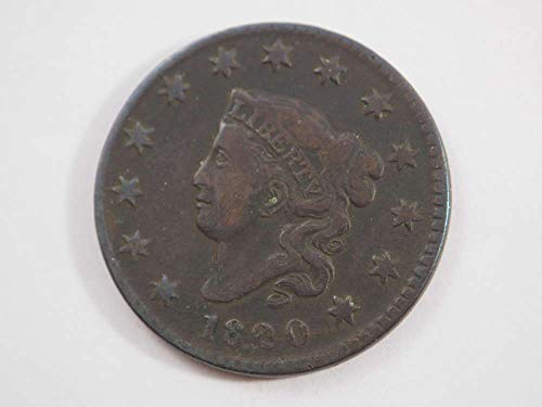 1820 P Coronet Large Cent Large Cents Ungraded