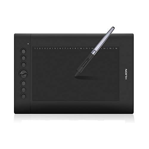 chollos oferta descuentos barato HUION H610PRO V2 Tableta gráfica Tableta gráfica de Dibujo de Espacio de Trabajo de 10 x 6 25 Pulgadas Lápiz sin Batería 8 Teclas Express Compatible con Windows macOS y Teléfonos Android