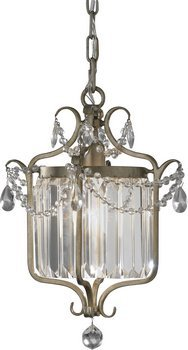 Gianna One Light (Feiss F2473/1GS Gianna Collection 1-Light Mini Duo Chandelier, Gilded Silver Finish with Hand Polished Crystal)