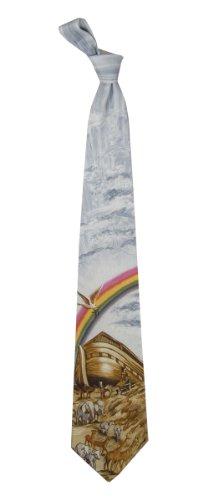 Men's Noah's Ark Bible Story Religious Christian Necktie Neck Tie (Necktie Bible)