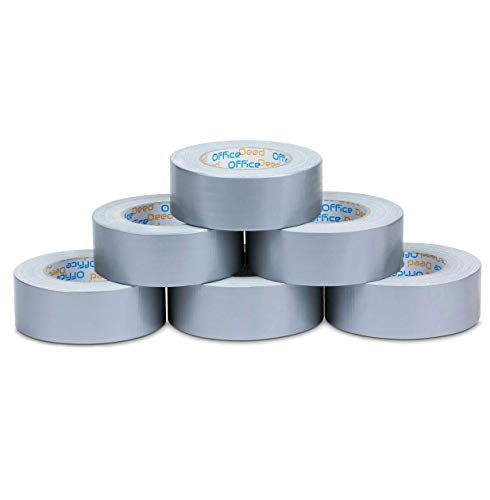Office Deed Professional Grade Duct Tape, 6-Pack, Silver Color, 11mil Thick (1.88 inch x 35 Yards), 48mm x 32m - Designed for Crafts, Home Improvement Projects, Repairs, Maintenance, Total 210 Yards