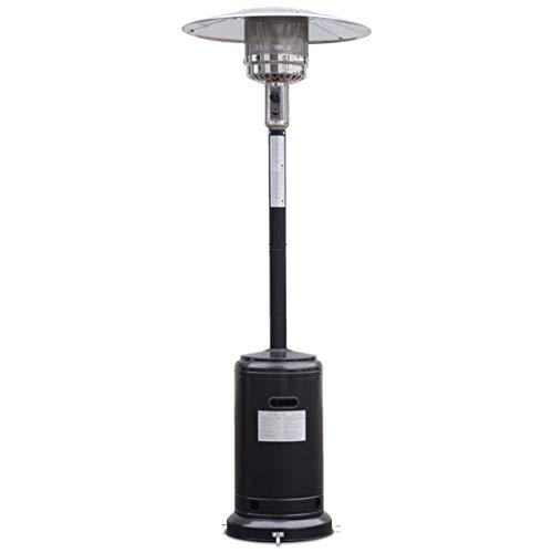Giantex Steel Outdoor Patio Heater Propane Lp Gas W/accessories (Black)