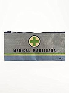 Blue Q Pencil Case, Medical Marijuana, Made Out of 95% Recycled Materials, 4.25 by 8.5 Inches (QA743) (Marijuana Leaf Case)