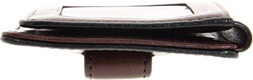 Bosca Dark Brown Old Leather Front Pocket ID Wallet