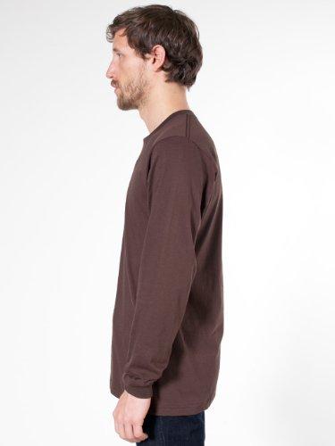 American Apparel Fine Jersey Long Sleeve T-Shirt - Heather Grey / XL
