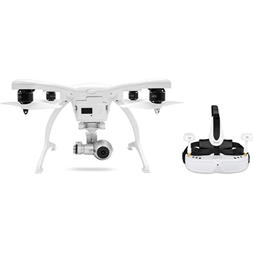 EHANG iOS GHOSTDRONE 2.0 VR Camera - White ISO Version -UK Version -Ghost Drone 4K Video 12 Megapixel Photos with a F / 2.8 Aperture 93 Degree Wide Angle Field-of-View Lens Fly for up to 25 Minutes -