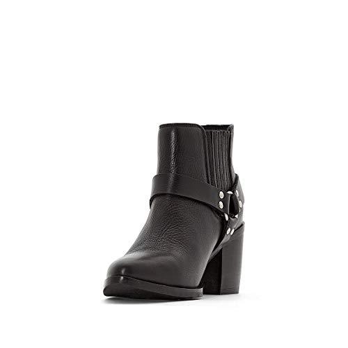 Nero Pelle La Con Fibbia In Redoute Collections Donna Argentata Boots qXXBpfzxw
