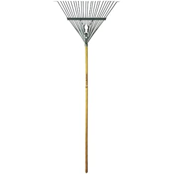 Flexrake CLA100 Classic 24-Inch Spring Leaf Rake with 48-Inch Handle