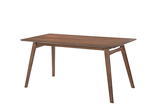 Emerald Home Simplicity Walnut Brown Dining Table with Tapered Waterfall Edge