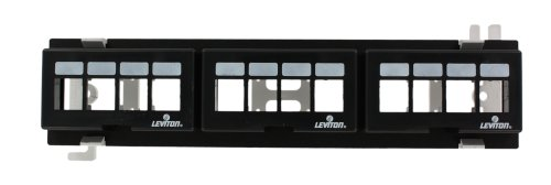 Leviton 47689-QP QuickPort 12-Port Multimedia Patch Block, 10-Inch H X 2.375-Inch W