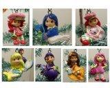 Strawberry Shortcake 7 Piece Holiday Christmas Tree Ornament Set Featuring 2