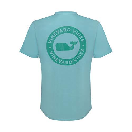 Vineyard Vines Men's Short Sleeve Graphic Pocket T-Shirt (Whale Dot Sea Splash, S)