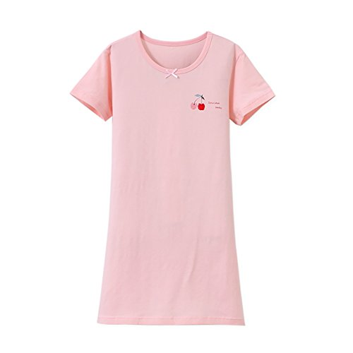 Zegoo Pink Printing Pictures of Girls Nightgowns by Zegoo