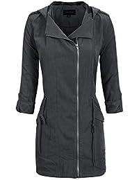 Women's Anorak Safari Hoodie Jacket up to Plus Size