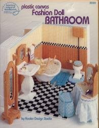(Plastic Canvas Fashion Doll Bathroom by Kooler Design Studio #3089)