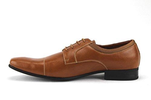 Ferro Aldo Heren 19107al Klassieke Cap Teen Veter Oxford Dress Schoenen Tan