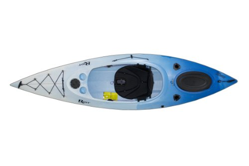 Riot Kayaks Quest 10 HV Flatwater Day Touring Kayak (White/Blue, 10-Feet) by Riot Kayaks