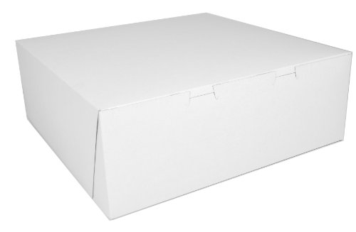 Southern Champion Tray 0991 Premium Clay Coated Kraft Paperboard White Non-Window Lock Corner Bakery Box, 14