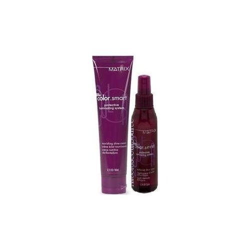 Matrix Color.Smart Protective Luminating System Nourishing Shine Cream (5.1 Fl. Oz.) and Reflective Shine Spray (4.2 Fl. Oz.) (Spray Shine Reflective)