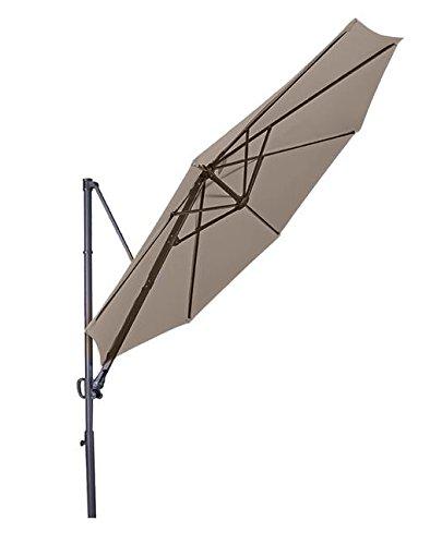 Doppler Hochwertiger Ampelschirm Ravenna 300 in greige, neigbar, 360 Grad drehbar, UV-Schutz 50 PLUS,