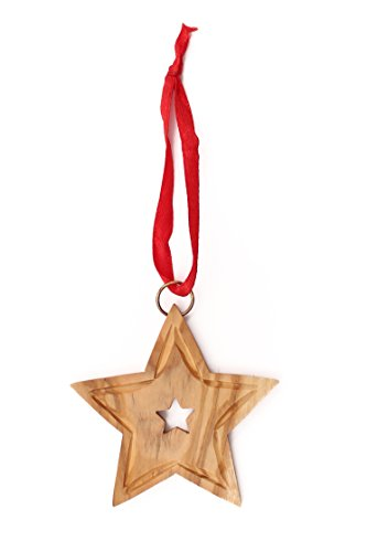 Wood Star Ornaments (From The Earth - Olive Wood Star Christmas Ornament - Fair Trade & Handmade)