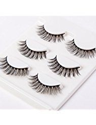 3D False Eyelashes Extension 3Pairs Long Lashes With Volume for Womens Make Up Handmade Soft Fake Eyelash