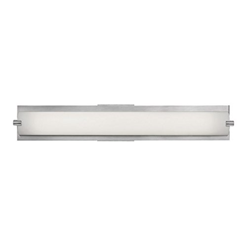 Geneva - 1-Light Vanity - Brushed Steel Finish - Opal Glass Shade - Bs Brushed Steel 1 Light