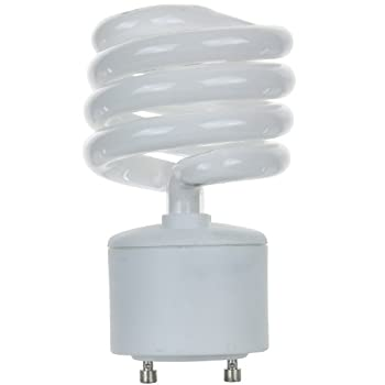 Sunlite SL23/GU24/41K SL23/GU24/41K 23-watt GU24 Spiral Energy Saving GU24 Base CFL Light Bulb, Cool White