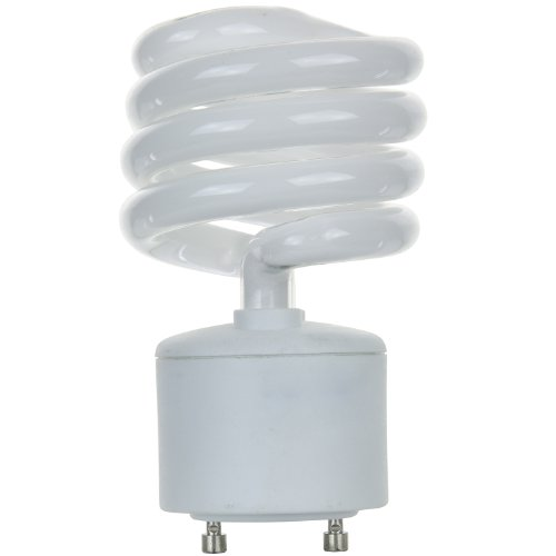 Sunlite SL23/E/GU24/27K SL23/E/GU24/27K 23-watt GU24 Spiral Energy Star GU24 Base CFL Light Bulb, Warm - Spiral 23w