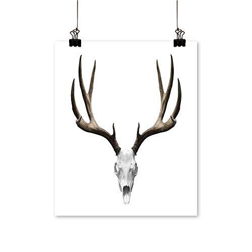Artwork for Home DecorationsA Deer Skull Skeleton Head Bone Halloween Weathered Hunter Home Decor Wall Art,32