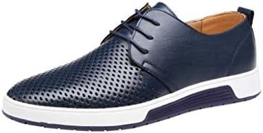 WWricotta LuckyGirls Zapatillas Casual Hombres Cómodas Calzado Negocio Transpirables Heuco Andar Zapatos de Cuero Planos Bambas: Amazon.es: Deportes y aire libre